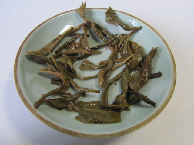 bada man mai old tree puer cake leaves after steeping